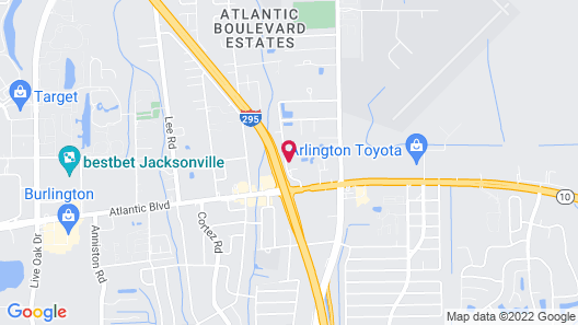 Holiday Inn Express and Suites Jacksonville East, an IHG Hotel Map