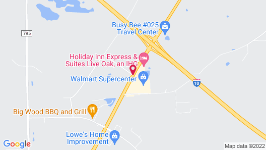 Econo Lodge Live Oak Map