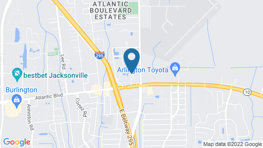 InTown Suites Extended Stay Jacksonville Fl- Atlantic Blvd Map
