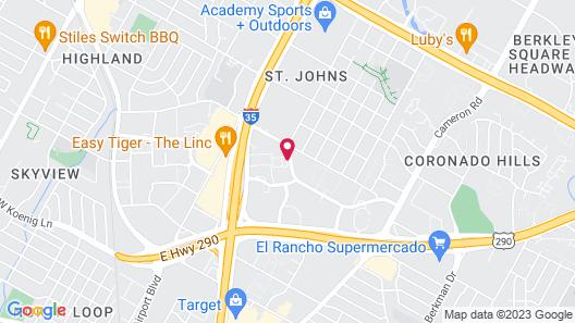 Studio 6 Austin, TX - Midtown Map
