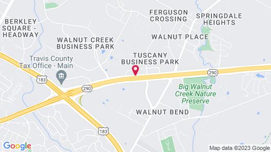 Sleep Inn & Suites Austin Northeast Map