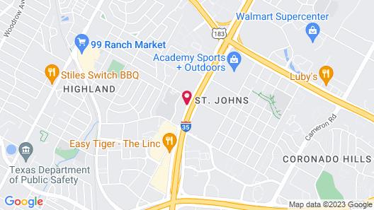 Motel 6 Austin, TX - Midtown Map