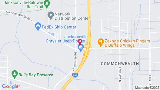 Comfort Suites West Jacksonville Map