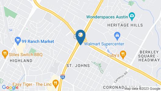 Hampton Inn Austin North @ I - 35 & Hwy 183 Map