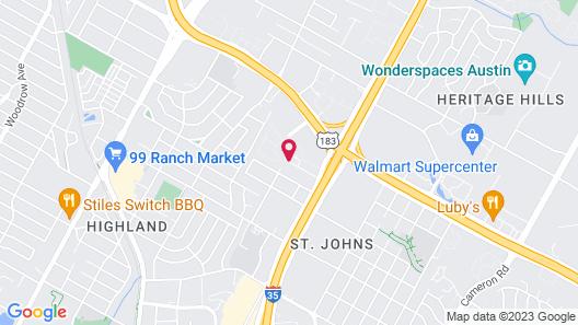 Sonesta Select Austin North Central Map
