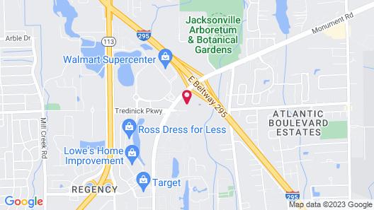 Hampton Inn Jacksonville - East Regency Square Map