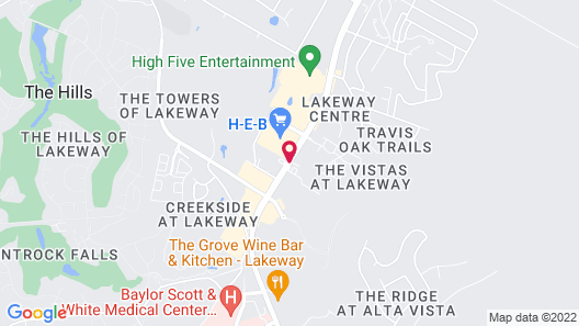 Hampton Inn & Suites Austin - Lakeway Map