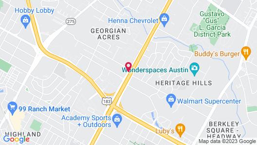 Super 8 by Wyndham Austin North/University Area Map