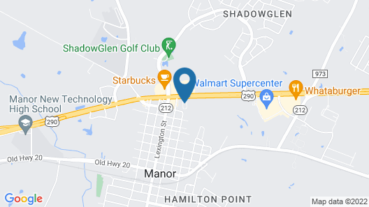 Red Roof Inn & Suites Austin East - Manor Map