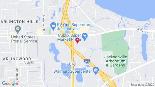 Candlewood Suites Jacksonville East Merril Road, an IHG Hotel Map