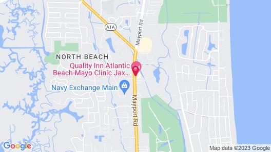 Quality Inn Atlantic Beach - Mayo Clinic Jax Area Map