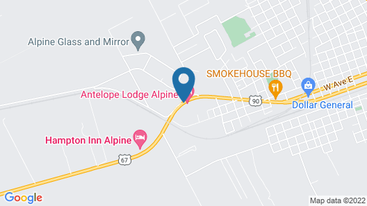 Hampton Inn Alpine Map