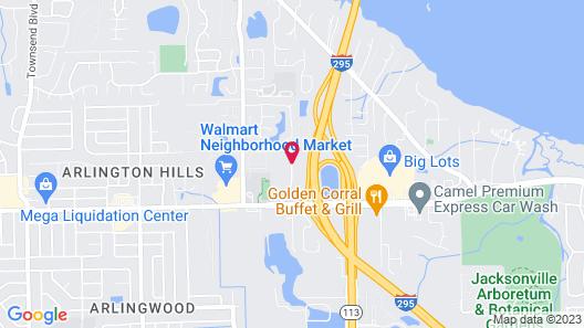 WoodSpring Suites Jacksonville I-295 East Map