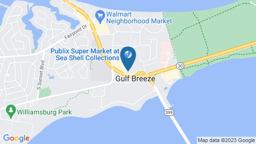 Home2 Suites by Hilton Gulf Breeze Pensacola Area Map