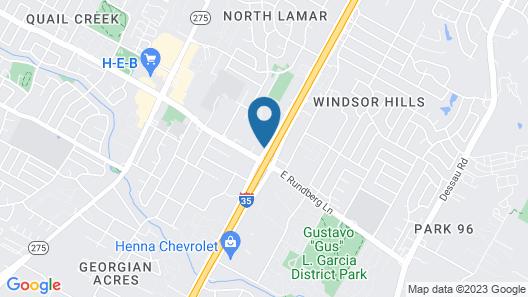 Motel 6 Austin, TX - North Map