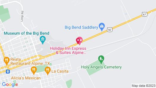 Holiday Inn Express & Suites Alpine Southeast, an IHG Hotel Map