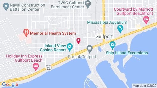 The Guest House at Gulfport Landing Map