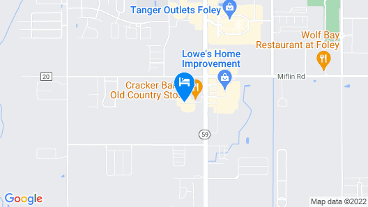 Holiday Inn Express & Suites Foley Map