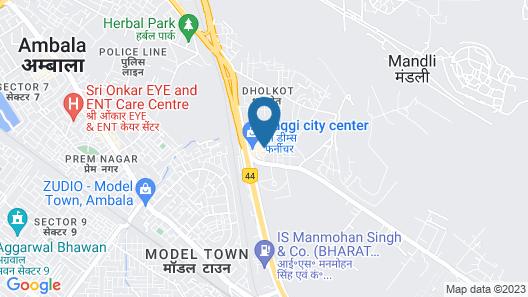 Clarks Inn Ambala Map
