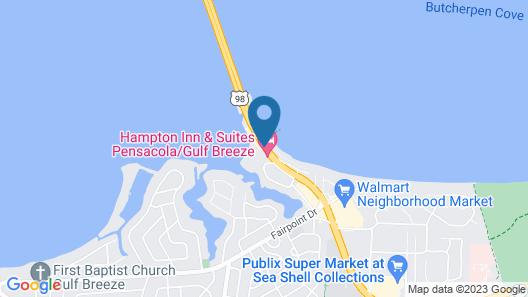 Hampton Inn & Suites Pensacola/Gulf Breeze Map