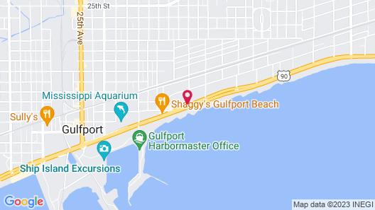 Courtyard by Marriott Gulfport Beachfront Map