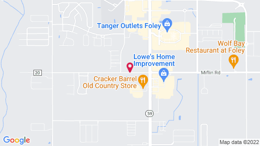 Cornerstone Lodge of Foley Map
