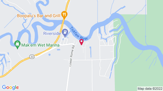 Louisiana Vacation Rental on Tickfaw River Near Baton Rouge & New Orleans Map