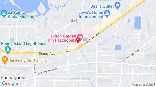 Hilton Garden Inn Pascagoula Map