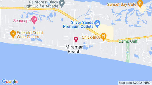 Embassy Suites Hotel Destin Miramar Beach Map