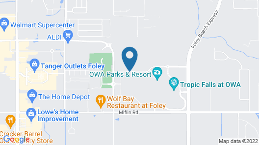 TownePlace Suites by Marriott Foley at OWA Map