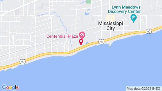 Grand Centennial Hotel - Gulfport Map