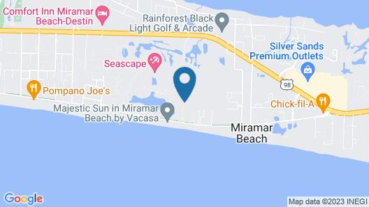 Ariel Dunes Beach Resort by Panhandle Getaways Map