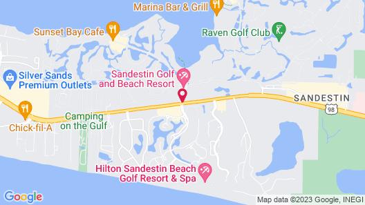 Beachside Towers at Sandestin by Panhandle Getaways Map