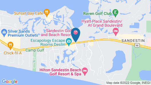 Sandestin Golf and Beach Resort Map
