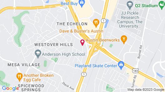 DoubleTree by Hilton Hotel Austin Northwest Arboretum Map