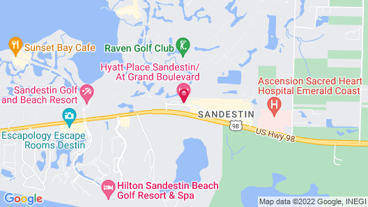 Hyatt Place Sandestin at Grand Boulevard Map