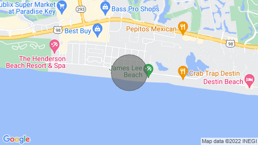 Crystal Sands Condo, Directly on the Beach, Open on Sep 22-24, 29-1 Map