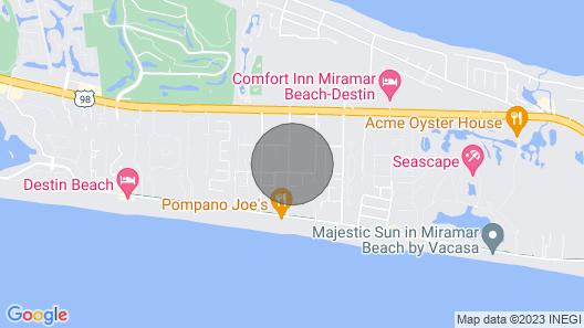 A Miramar Beach Oasis Only 2 Blocks From Beach and Pompano Joe's Restaurant Map