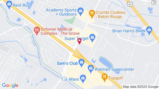 Motel 6 Baton Rouge, LA - Southeast Map