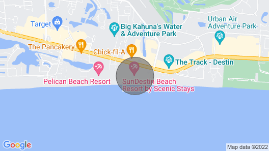 Beautiful Beach Front, Balcony Views, Paradise in Destin Map