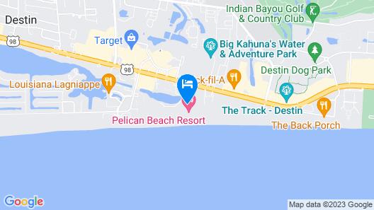 Pelican Beach Resort by Panhandle Getaways Map