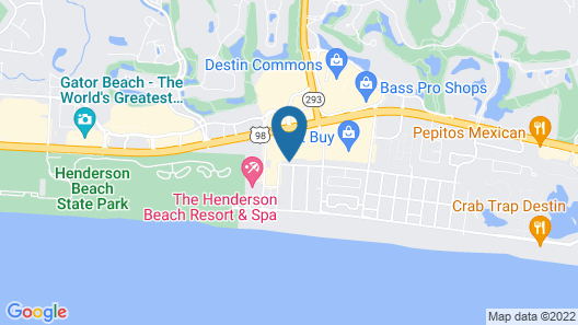 Beach Blessing 7 Bedroom Home Map