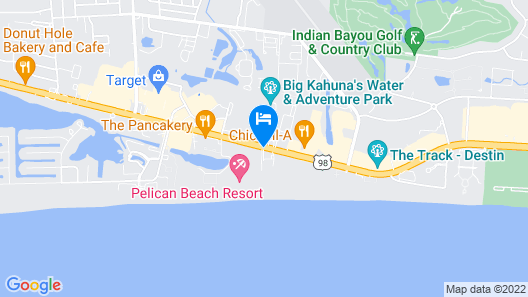 Destin Towers by Holiday Isle Map
