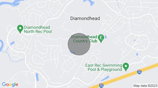 Diamondhead Condo, Screened Patio+pool Access Map