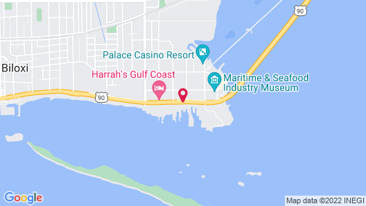 Golden Nugget Biloxi Map
