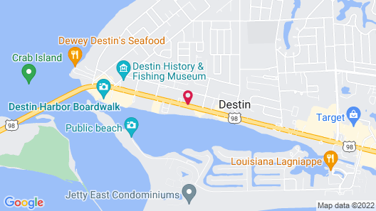 Motel 6 Destin, FL Map