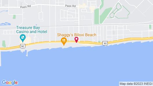Econo Lodge Biloxi Beach North Map