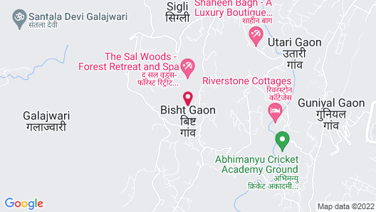 Tree of Life Resort, Dehradun Foothills Map