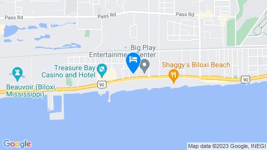 Biloxi Beach Hotel Map