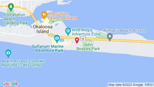 Destin West Gulfside 304 - 280596 Map